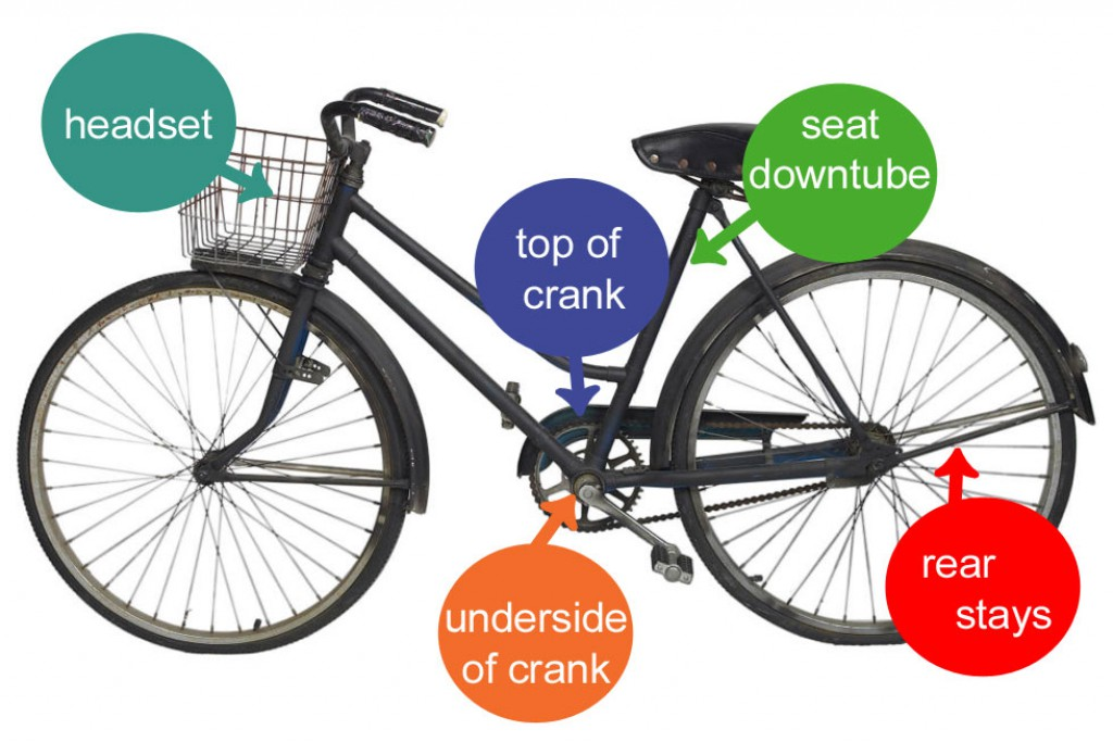 Where to find your bicycle's serial number