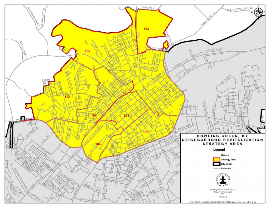 Map of BG Reinvestment Area