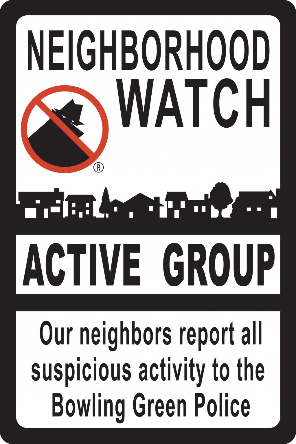 Neighborhood Watch: Sign