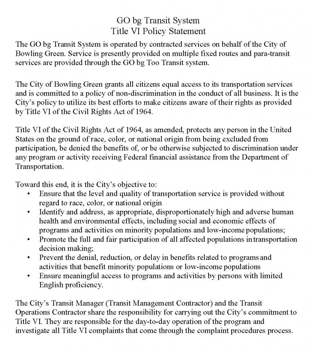 Preview - Title VI Policy Statement