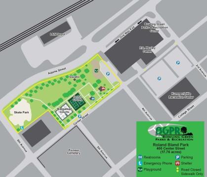Roland Bland Park - Map: Map
