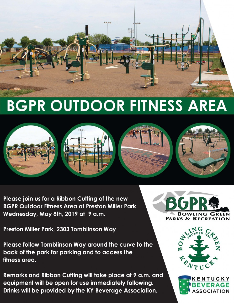 City of BG to Hold Ribbon Cutting for Preston Miller Outdoor Fitness Area