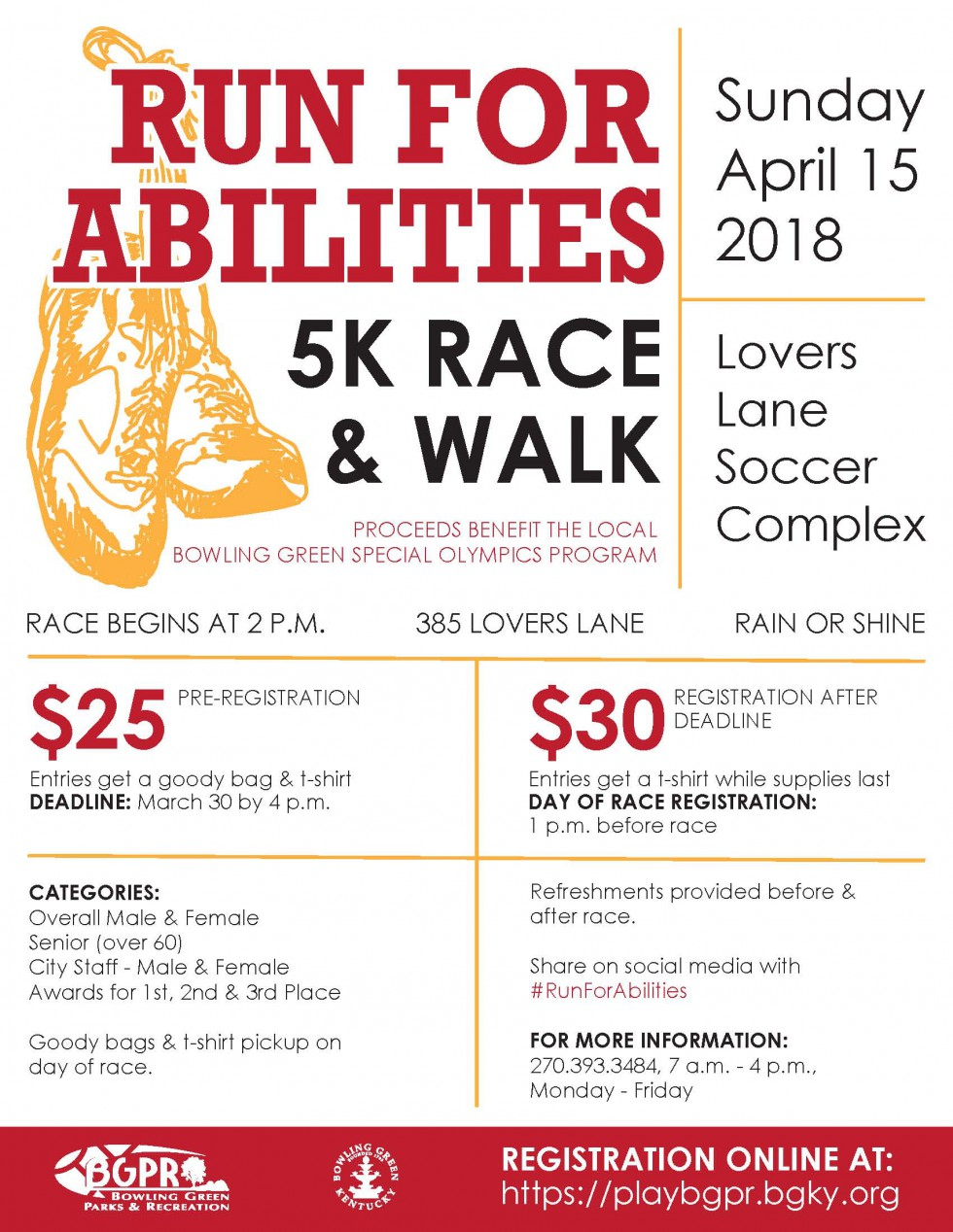 Run for Abilities 5k Race and Walk at the Loops at Lovers Lane