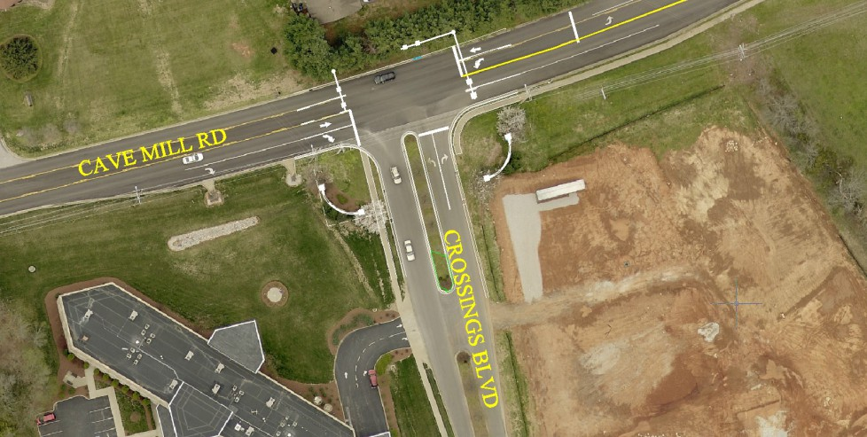 Cave Mill Road and Crossings Blvd Construction