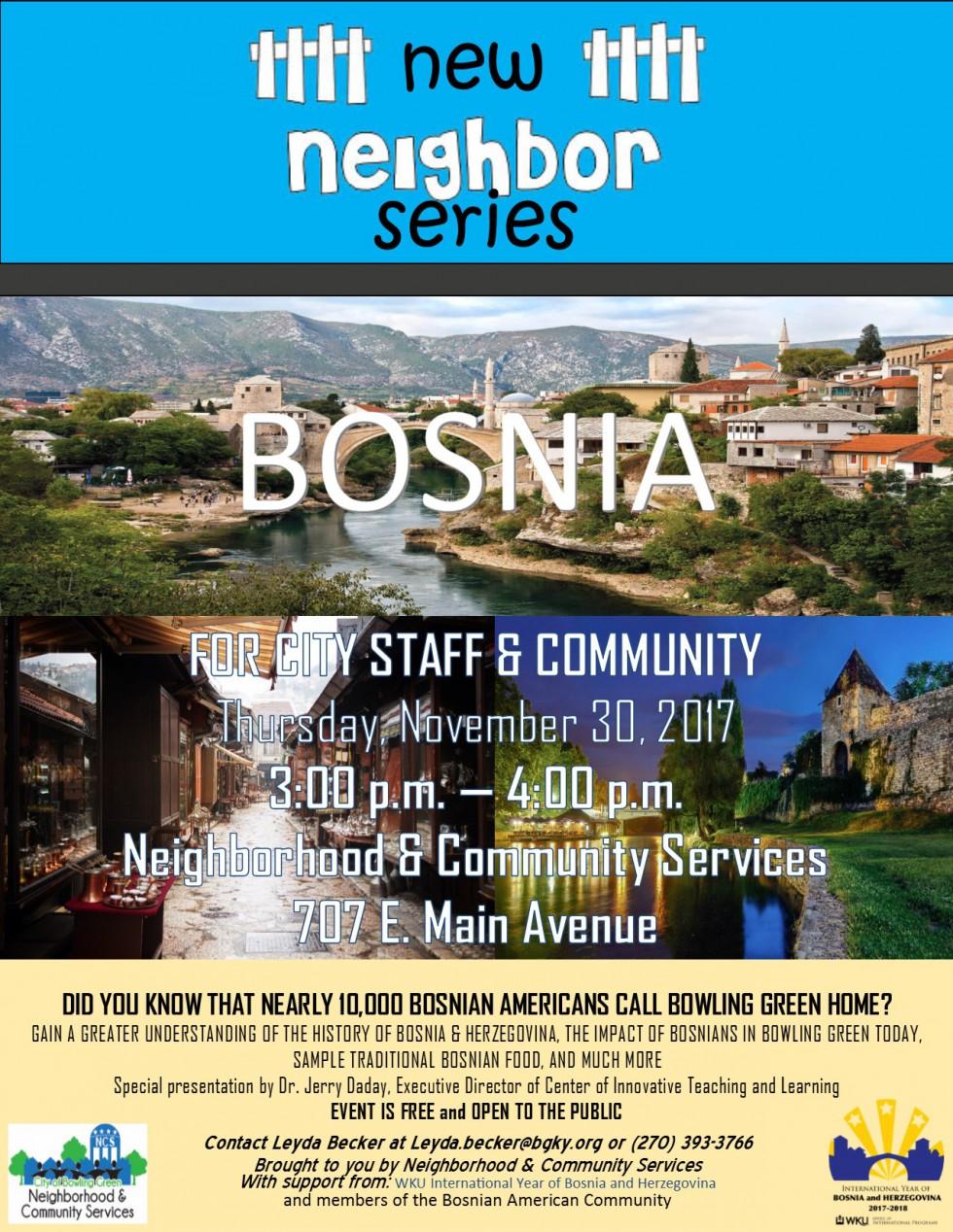 New Neighbor Series on Bosnia