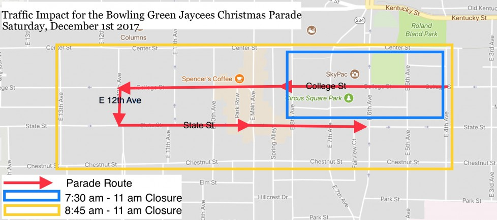 Traffic Impact for Christmas Parade Dec. 2