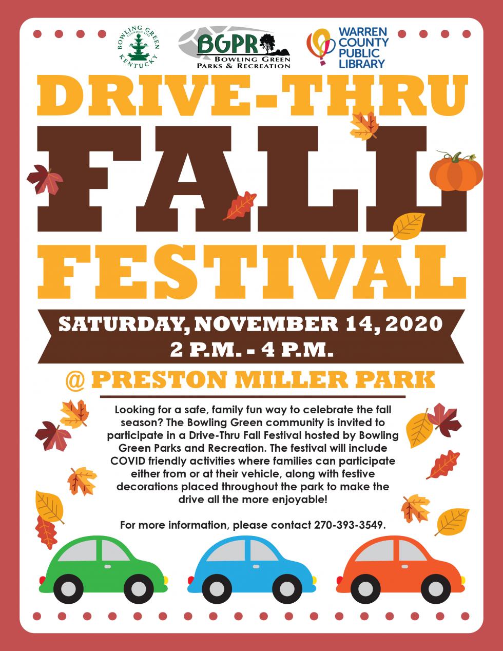 Drive Through Fall Festival Bowling Green Kentucky Official Municipal Website