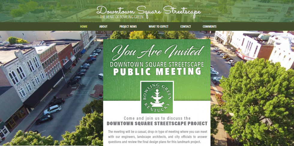 Downtown Square Streetscape Public Meeting  Scheduled for April 23rd