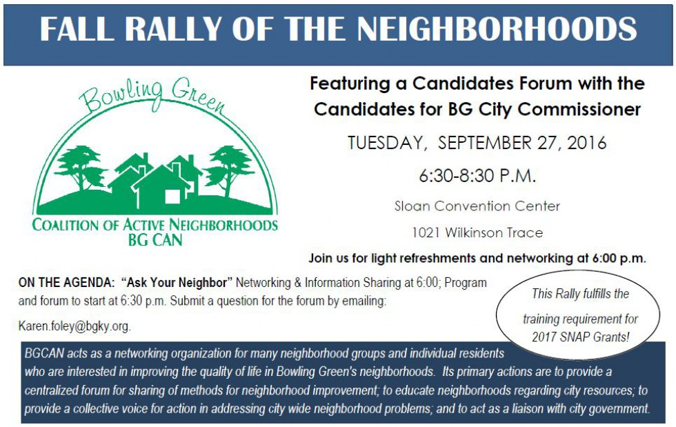 BGCAN Fall Rally & Candidates Forum