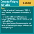 Coronavirus Workgroup Update