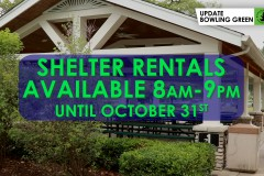 Park Shelter Rentals Available!