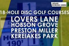 Disc Golf Courses at the City Parks