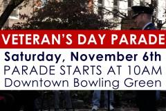 2021 Veteran's Day Parade November 6th at 10AM