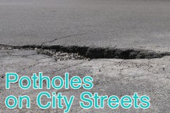 Potholes on City Streets