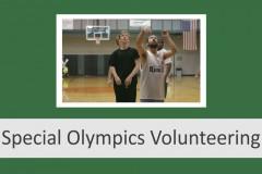 Special Olympics Volunteering