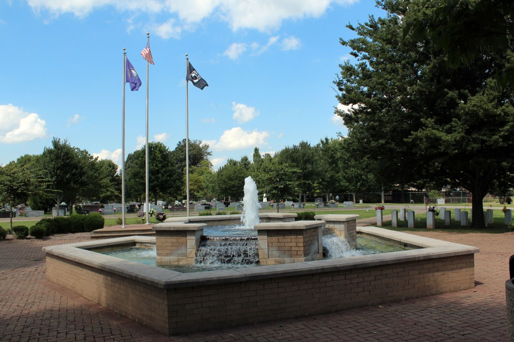 Fairview Cemetery - Fountain at Veteran's Plaza