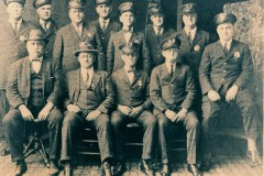 Members of the 1925 Bowling Green Police Department group photograph.