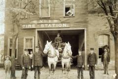 Fire Station Portrait with Curious Children