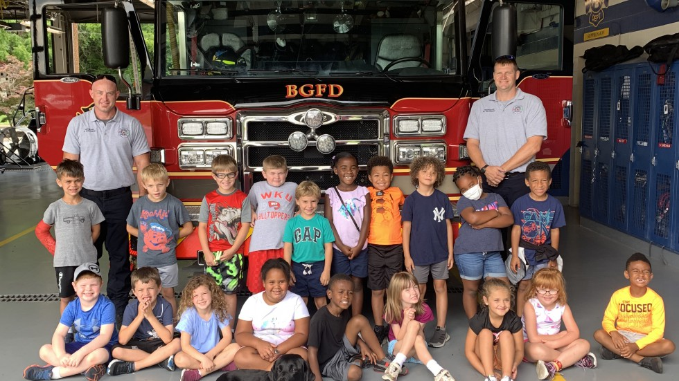 Class Visiting Fire Station - Bowling Green Fire Department