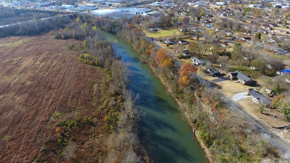 Public Works - Stormwater - Drone Photo of Barren River - 2017