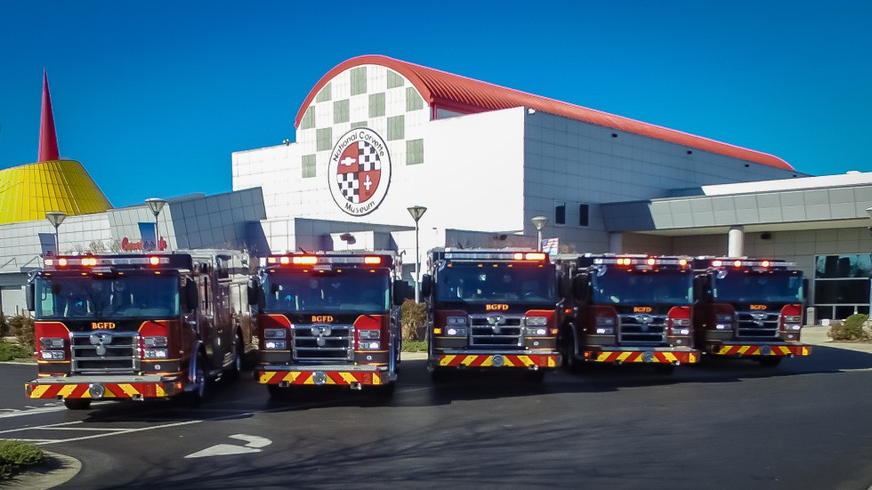 Trucks at Corvette Museum - Bowling Green Fire Department