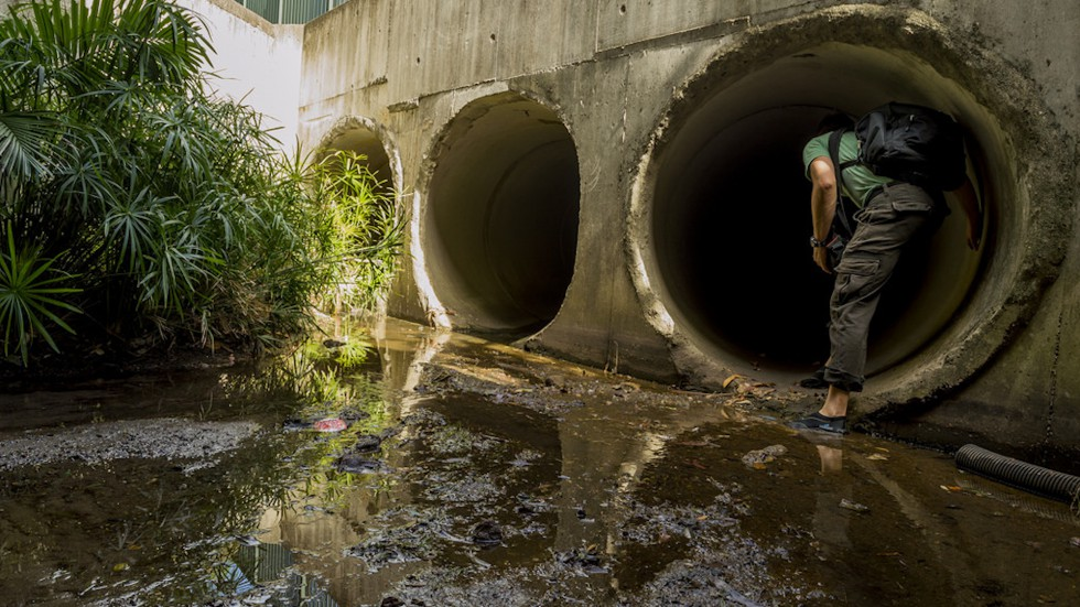 Public Works - Stormwater - Entering Sewer Tunnel - 2017